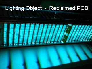 Led lighting reclaimed pcb